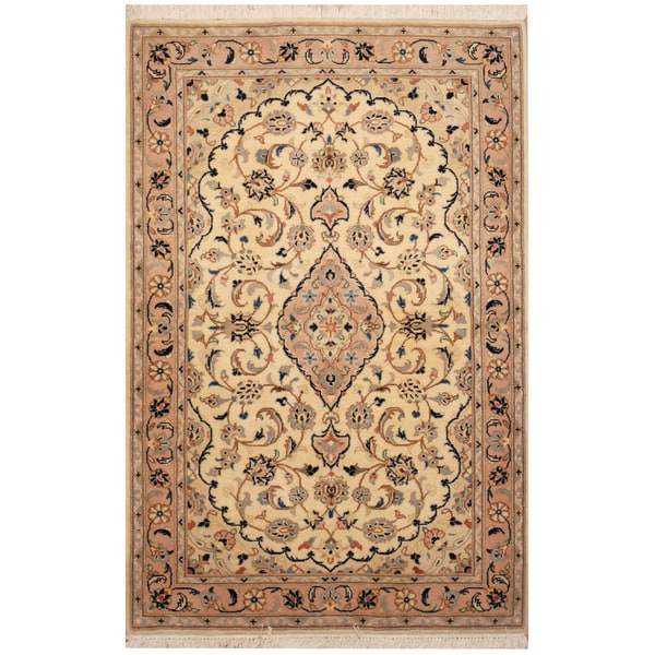 Persian Hand Knotted Nain Wool And Silk Area Rug Ebth: Shop Handmade Herat Oriental Persian Hand-Knotted Wool