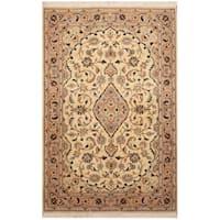 Handmade Herat Oriental Persian Hand-Knotted Wool & Silk Tabriz Wool Rug - 3'3 x 5'1 (Iran)