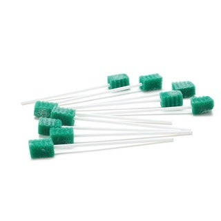 Medline Oral Swab Dentips Treated Green (Case of 1000)