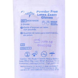 Medline Sterile Medium Powder-free Latex Exam Glove (Case of 200)