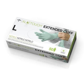 Medline Nitrile Chemo Exam Glove 12-inch Cuff Powder-free Aloe Large (Case of 500)