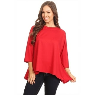 Women's Solid Color Oversize Tunic