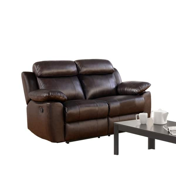 Marvelous Shop Abbyson Braylen Brown Top Grain Leather Reclining Onthecornerstone Fun Painted Chair Ideas Images Onthecornerstoneorg