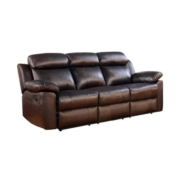 Wondrous Shop Abbyson Braylen Top Grain Leather Reclining Sofa Free Onthecornerstone Fun Painted Chair Ideas Images Onthecornerstoneorg