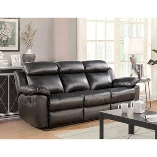 Abbyson Braylen Top Grain Leather Reclining Sofa