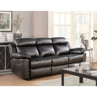 Abbyson Braylen Brown Top Grain Leather Reclining Sofa