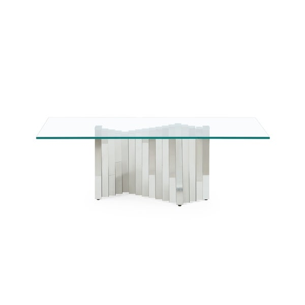 Global Accordion Style Base Cocktail Table