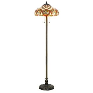 Tiffany-style Baroque Floor Lamp