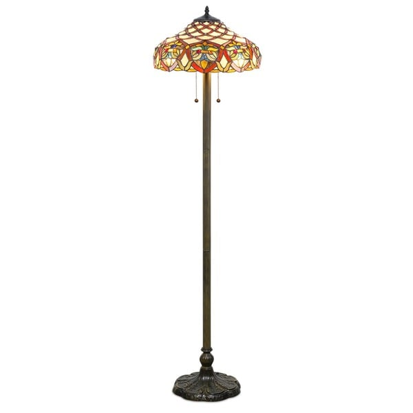 Tiffany style baroque floor lamp free shipping today overstock tiffany style baroque floor lamp aloadofball Images
