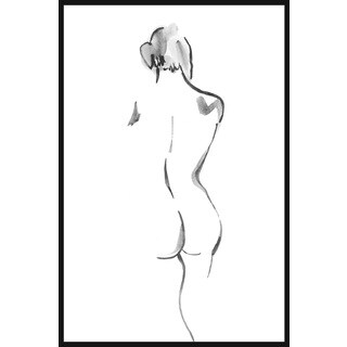 Marmont Hill - Handmade Graceful II Floater Framed Print on Canvas