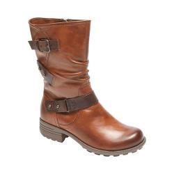Women's Rockport Cobb Hill Brunswick Mid Calf Boot Almond Leather