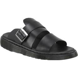 Men's Dr. Martens Brelade Sandal Black Brando Full Grain Waxy Leather