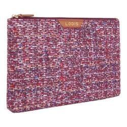 Women's Lodis Tweetable Tweed RFID Flat Pouch Brick