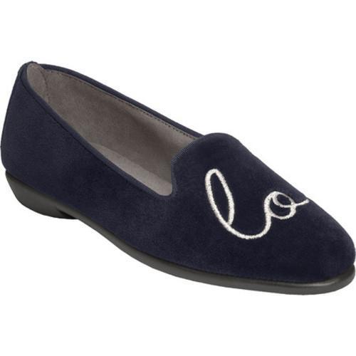 34867d2e576 Shop Women s Aerosoles Betunia Blue Love Velvet - Free Shipping Today -  Overstock - 17099575