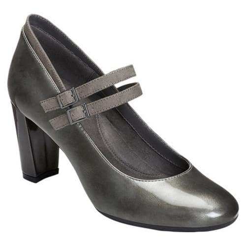 81a950efcc3 Women's Aerosoles Broadway Ave Mary Jane Pump Silver Combo Faux Patent  Leather/Faux Suede