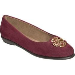 Women's Aerosoles Exhibet Flat Purple Suede
