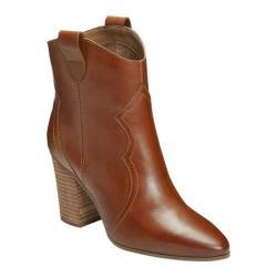 Women's Aerosoles Lincoln Square Ankle Boot Dark Tan Leather