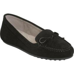 Women's Aerosoles Long Drive Moccasin Loafer Black Suede|https://ak1.ostkcdn.com/images/products/193/184/P23369994.jpg?impolicy=medium
