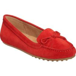 Women's Aerosoles Long Drive Moccasin Loafer Red Suede|https://ak1.ostkcdn.com/images/products/193/184/P23369998.jpg?impolicy=medium