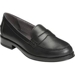 Women's Aerosoles Push Ups Penny Loafer Black Leather|https://ak1.ostkcdn.com/images/products/193/184/P23370005.jpg?impolicy=medium