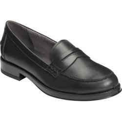 Women's Aerosoles Push Ups Penny Loafer Black Leather