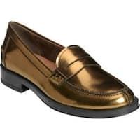 Women's Aerosoles Push Ups Penny Loafer Bronze Metallic Faux Leather