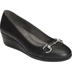 Women's Aerosoles True Life Pump Black Faux Leather