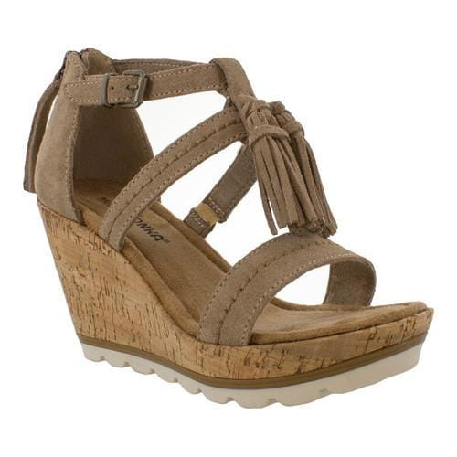 Shop Women s Minnetonka Lincoln Wedge Sandal Taupe Suede - Free Shipping On  Orders Over  45 - Overstock - 17099707 4e742100cf