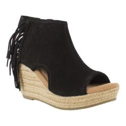 Women's Minnetonka Blaire Wedge Sandal Black Suede