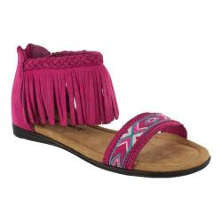 Girls' Minnetonka Coco Sandal Hot Pink Micro Suede