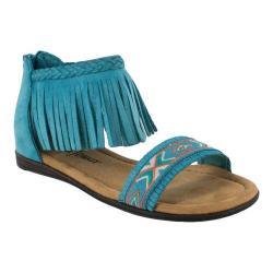 Girls' Minnetonka Coco Sandal Turquoise Micro Suede