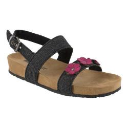 Girls' Minnetonka Harmony Sandal Black Denim Fabric