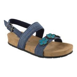 Girls' Minnetonka Harmony Sandal Blue Denim Fabric