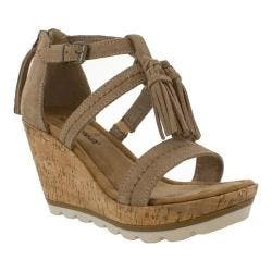 Women's Minnetonka Lincoln Wedge Sandal Taupe Suede|https://ak1.ostkcdn.com/images/products/193/202/P23370074.jpg?impolicy=medium