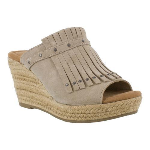 Shop Women s Minnetonka Quinn Wedge Sandal Stone Suede - Free Shipping  Today - Overstock - 17099675 84e7ac4c95
