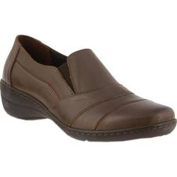 Women's Spring Step Kitara Slip On Brown Leather