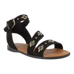 Women's Minnetonka Tangier Flat Sandal Black Suede