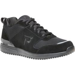 Men's Propet Simpson Walking Shoe Black Mesh/Microfiber