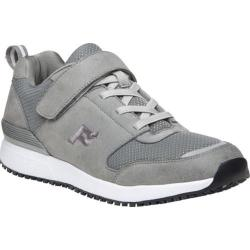 Men's Propet Stewart Walking Shoe Grey Mesh/Microfiber