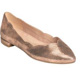 Women's Aerosoles Flower Girl Ballet Flat Pink Metallic Snake Printed Leather