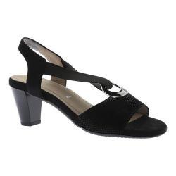 Women's ara Raizel 34607 Slingback Sandal Black Puntikid/Suede (More options available)