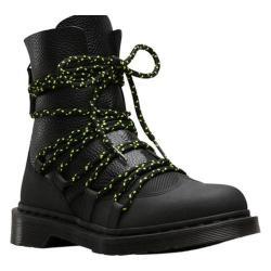 Women's Dr. Martens Zelda Combat Boot Black Ajax Embossed/Aunt Sally Tumbled Leather