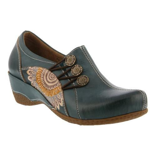 Women's L'Artiste by Spring Step Agacia Closed-Back Clog Teal Leather