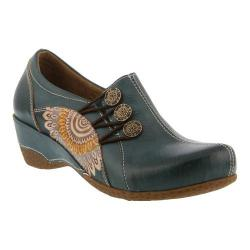 Women's L'Artiste by Spring Step Agacia Closed-Back Clog Teal Leather - Thumbnail 0