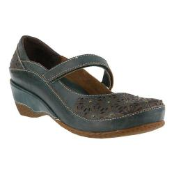 Women's L'Artiste by Spring Step Finlandia Mary Jane Teal Leather