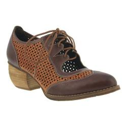 Women's L'Artiste by Spring Step Gabriel Wing Tip Brown Leather