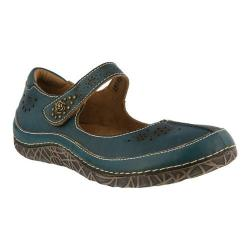 Women's L'Artiste by Spring Step Lazarina Mary Jane Teal Leather