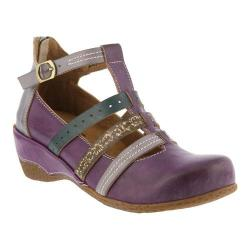 Women's L'Artiste by Spring Step Yulianna T-Strap Purple Leather