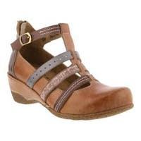 Women's L'Artiste by Spring Step Yulianna T-Strap Tan Leather
