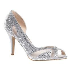 Women's Pink Paradox London Catrina D'Orsay Heel Silver Satin